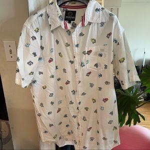 Camera pattern s/s shirt
